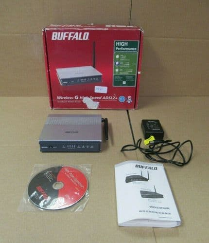 BUFFALO AirStation Wireless-G WBMR-G125 Router DSL Modem 802.11b/g In Box